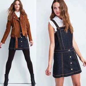 7 For All Mankind Pinafore Denim Overall Dress